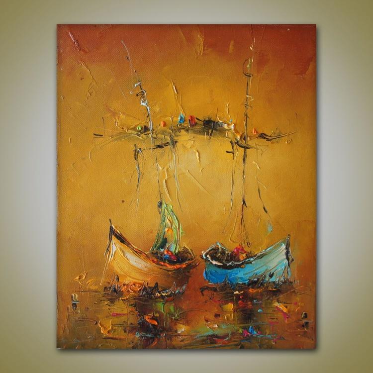 Sea magic, Oil painting, free shipping - Image 0