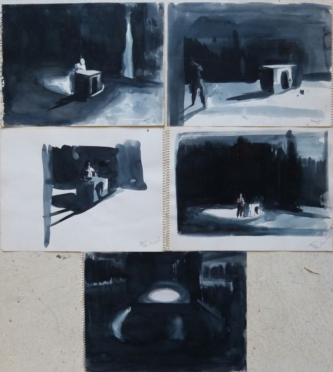 Rehearsal, collection of 5 drawings - Image 0
