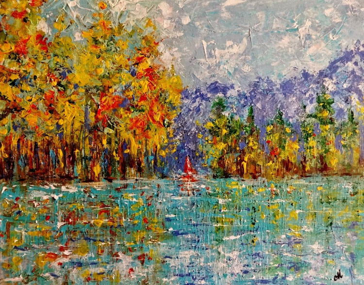 NEW BEGINNINGS..(Palette knife) - Image 0