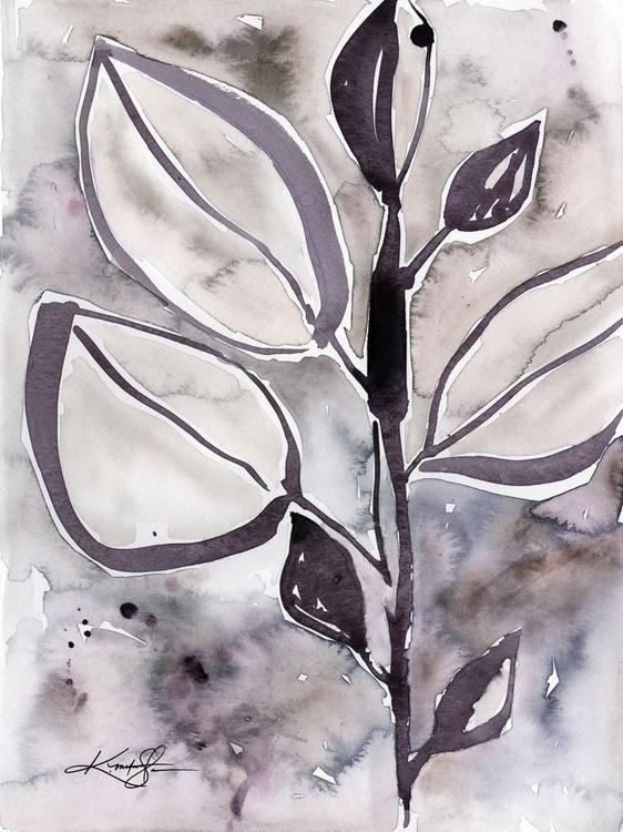 Botanical Joy No. 12 - Watercolor Painting - Image 0