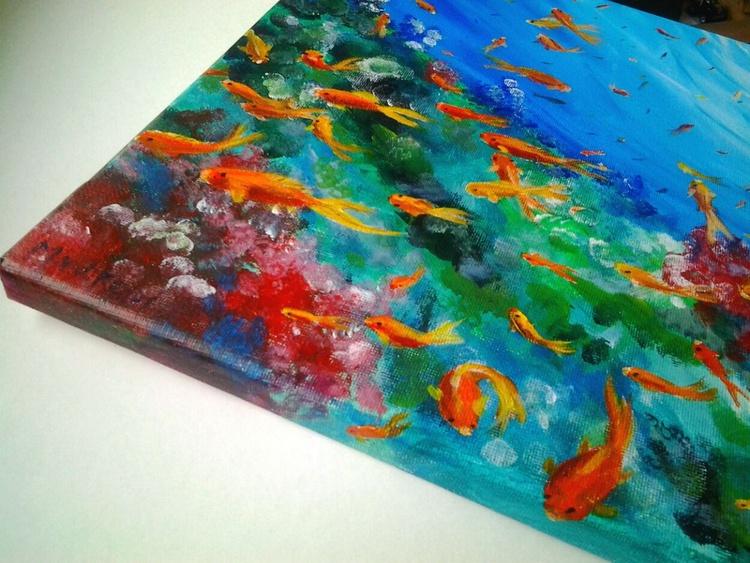 """""""IN THE SEA"""", 40×30cm - Image 0"""
