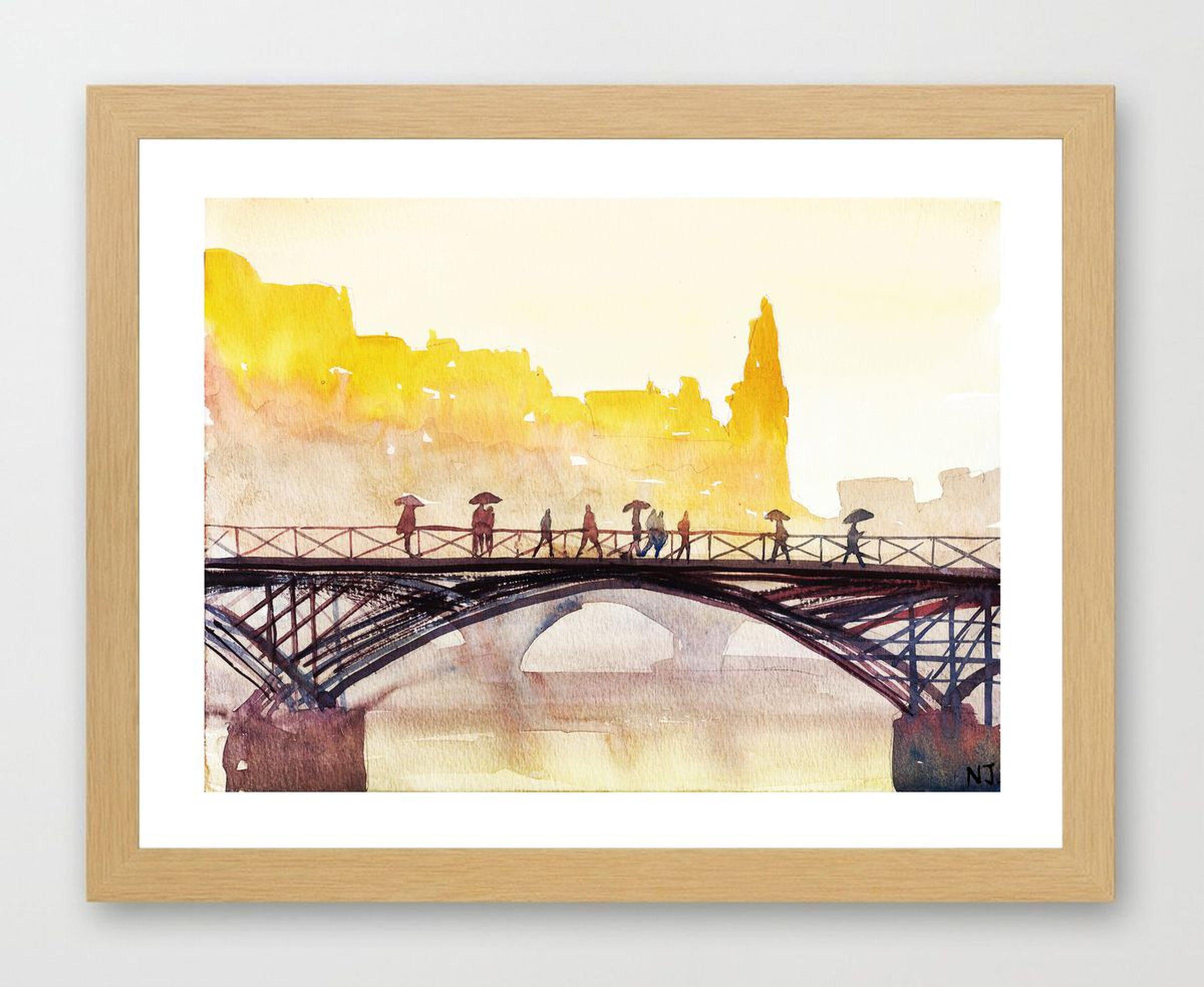 Paris Paris (2017) Watercolour by NJ Paintings   Artfinder