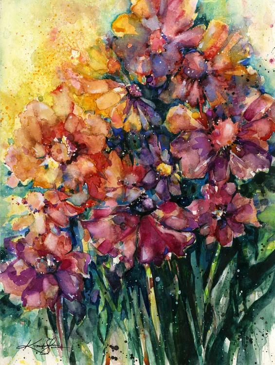 Floral Jubilee 2 - Flower Watercolor Painting - Image 0