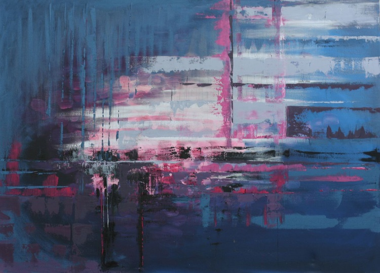 Steel Blue, and Pink - Image 0