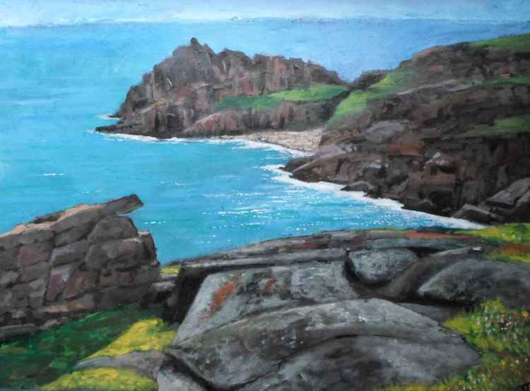 On the spot.  Coast near Gwennap Head. -