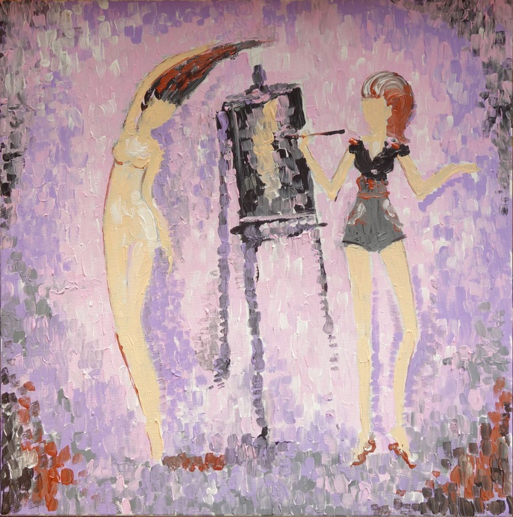 Woman Painting Nude - Image 0