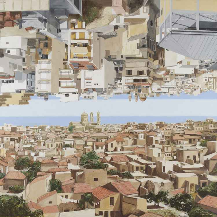 Heraklion old town upsidedown -