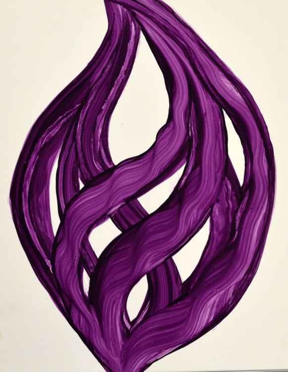 Ribbons of Love Purple abstract