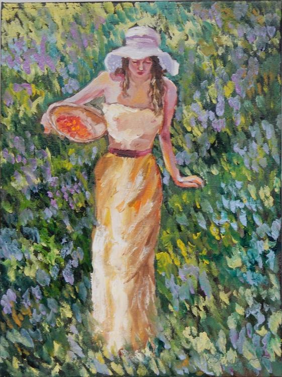 Woman in a field - Image 0