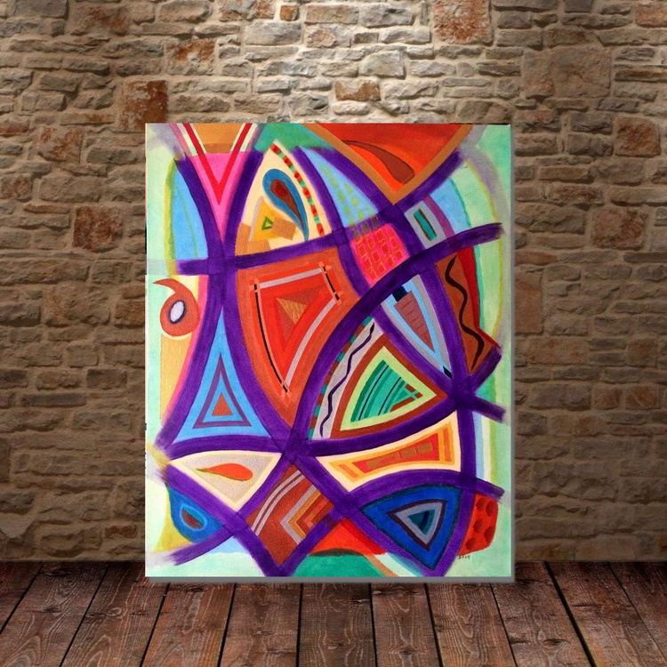 """Abstract Interweave  ( 50 X 40 cm ) 20X16"""" Inches - Image 0"""