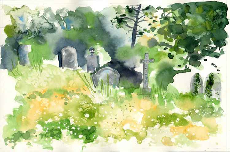Margate Cemetery Watercolour