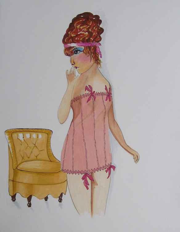 Lady in Boudoir