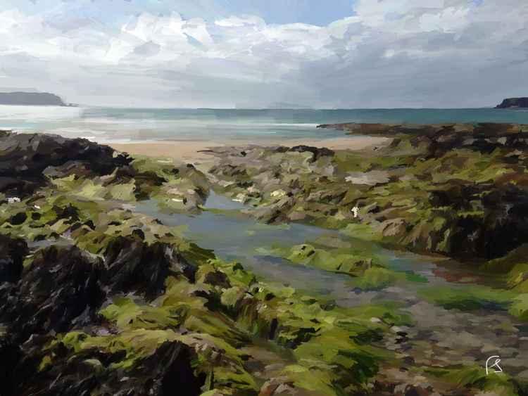 'Rock Pools' Limited Edition iPad Painting