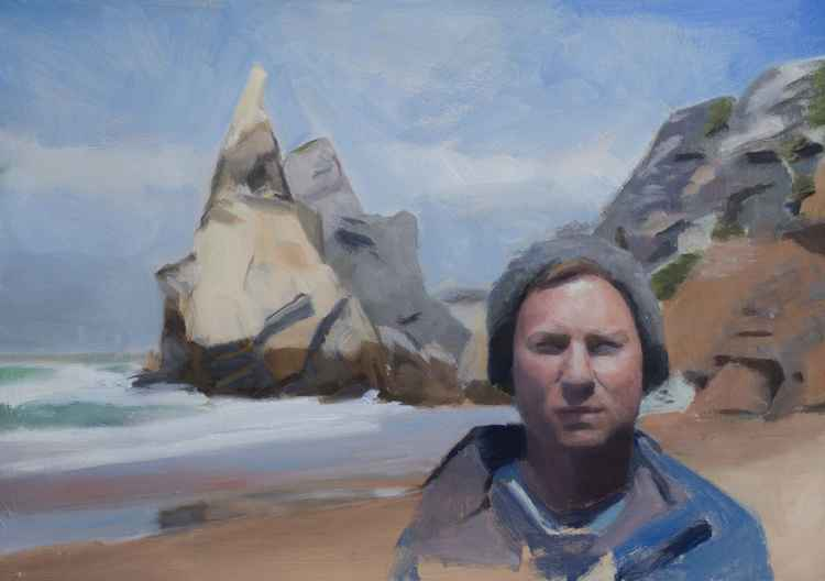 Self-portrait on Praia da Ursa -