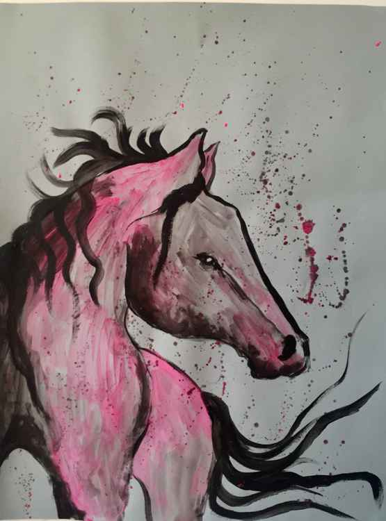 watercolor serie horses I 2016 -