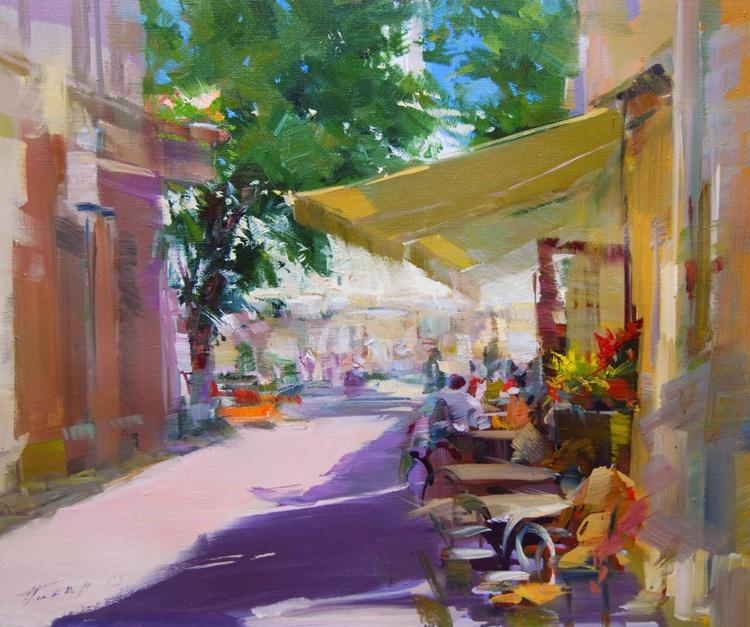 "Colourful Landscape Painting ""Etude. Pleasant Talks"" - Image 0"