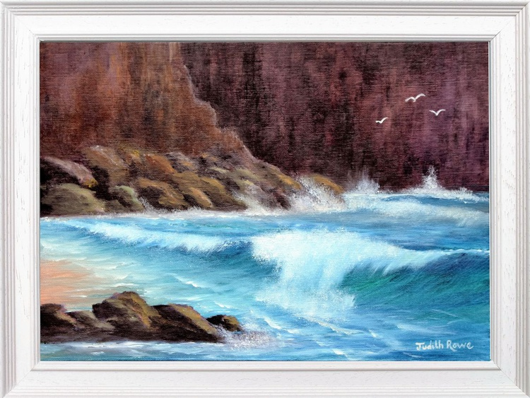 Waves Crashing on the Rocks - Image 0
