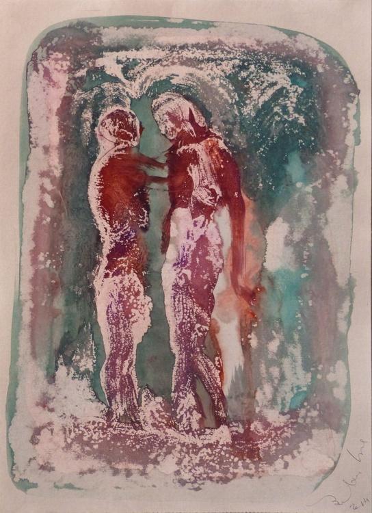 Prolegomena, Acrylic on paper #15, 29x42 cm - Image 0