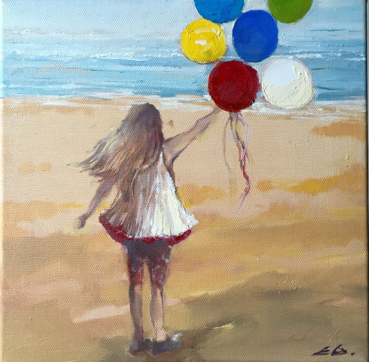 'Girl with balloon's' - Image 0