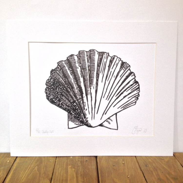 Scallop Shell Lino (Print print run of 16) - Image 0