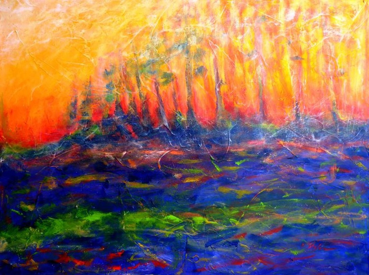 Sunset in the Forest, Forest on Fire - Image 0