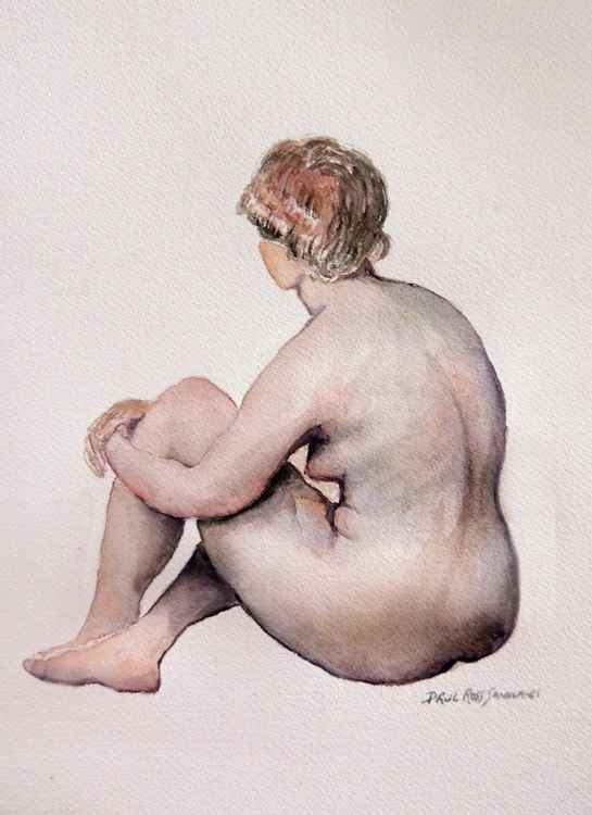 Nude study in watercolor -