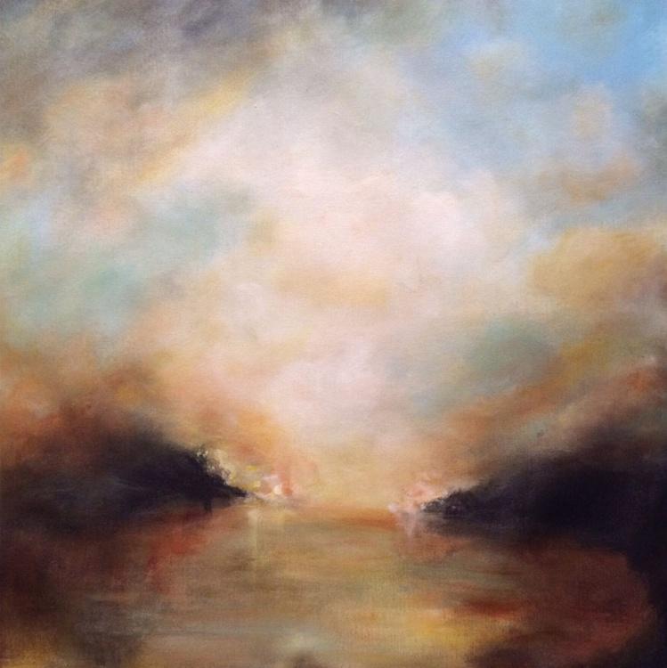 """Golden sky 24""""x24"""" - Image 0"""