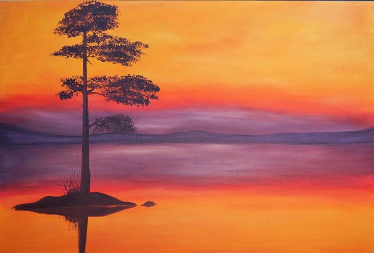 Caledonian Pine Sunset - Image 0