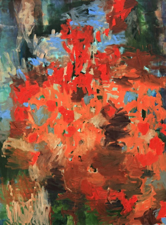 Paul's Scarlet - Large Abstract Painting - Image 0