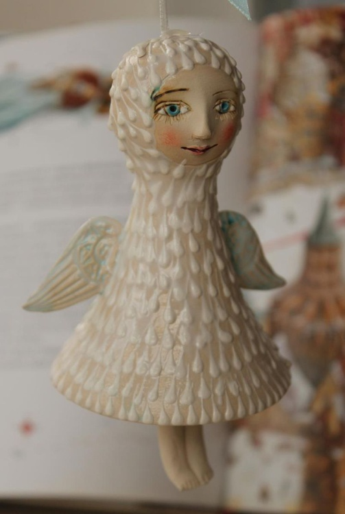 Angel. Bell-Doll, little ceramic sculpture. - Image 0