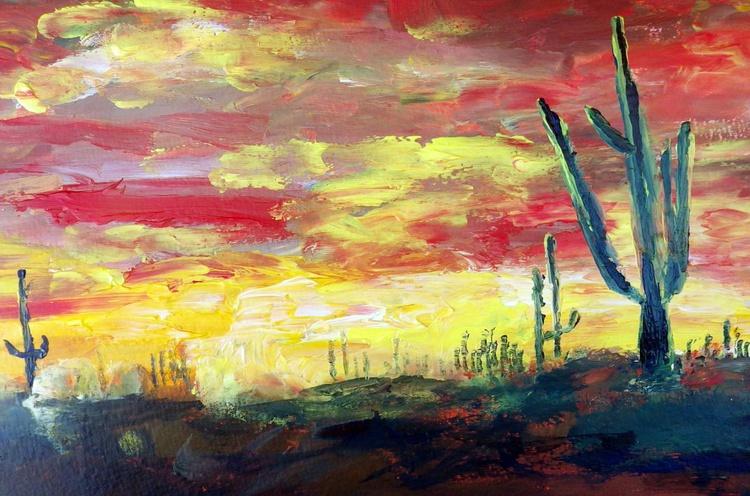 Cacti (sunset) - Image 0