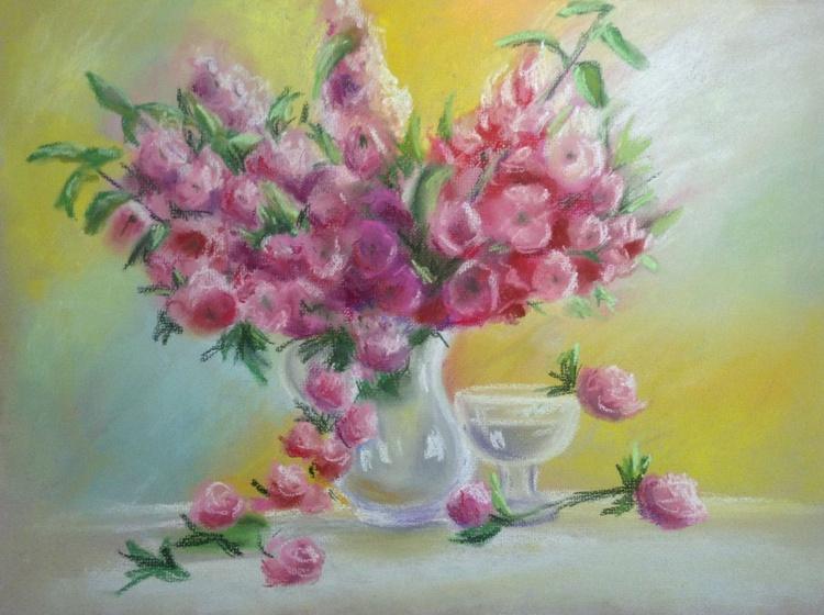 Soft flowers (framed) - Image 0