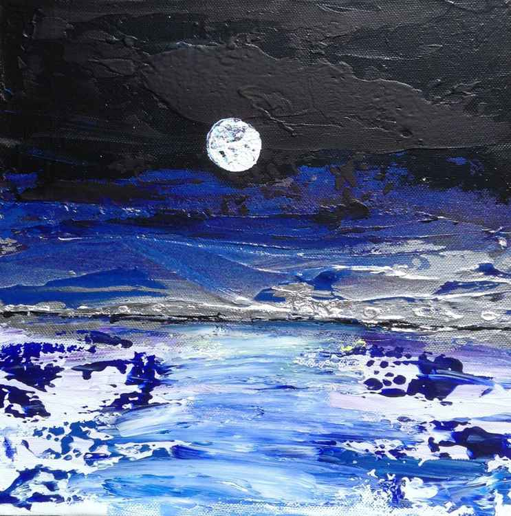 Skimming stones in moonlight 2 -