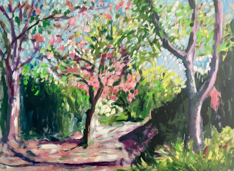 Baltimore Spring, Large Impressionist Landscape painting - Image 0