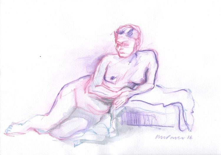 Purple Nude - life drawing #01 - Image 0
