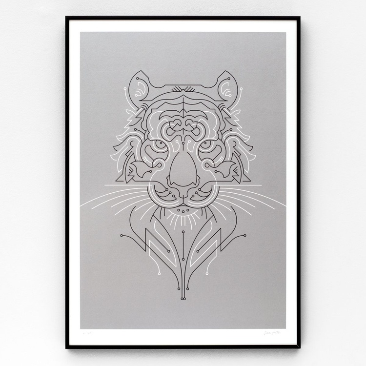 Tiger A2 limited edition screen print - Image 0