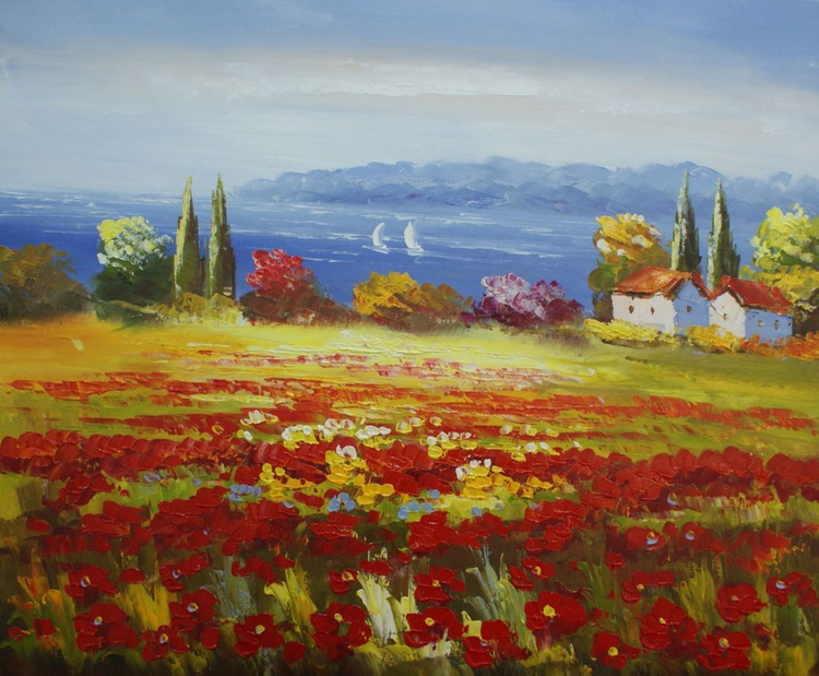 """Field of poppies"" - Image 0"