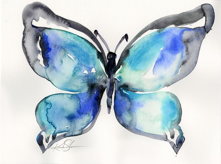 Watercolor Butterfly 3 - Abstract Butterfly Watercolor Painting - Image 0