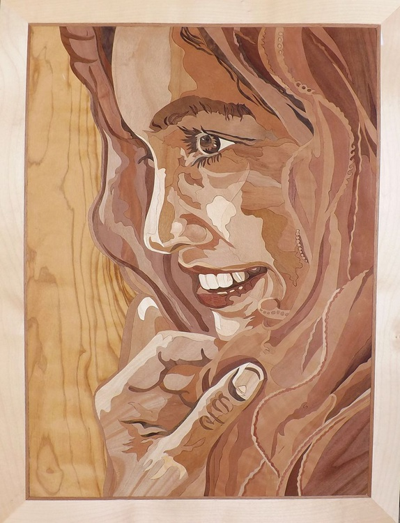 Marquetry work - Arabian girl - The smile of Muscat - Image 0