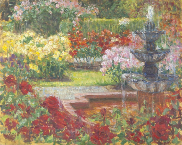 Fountain and Rose Garden - Image 0