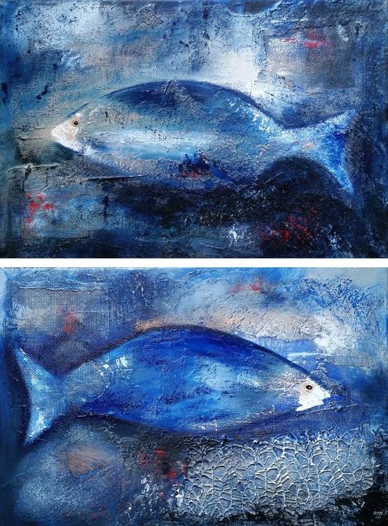 Fish   20/09/2016. ( Diptych ) 2 pieces 40x30cm - Image 0