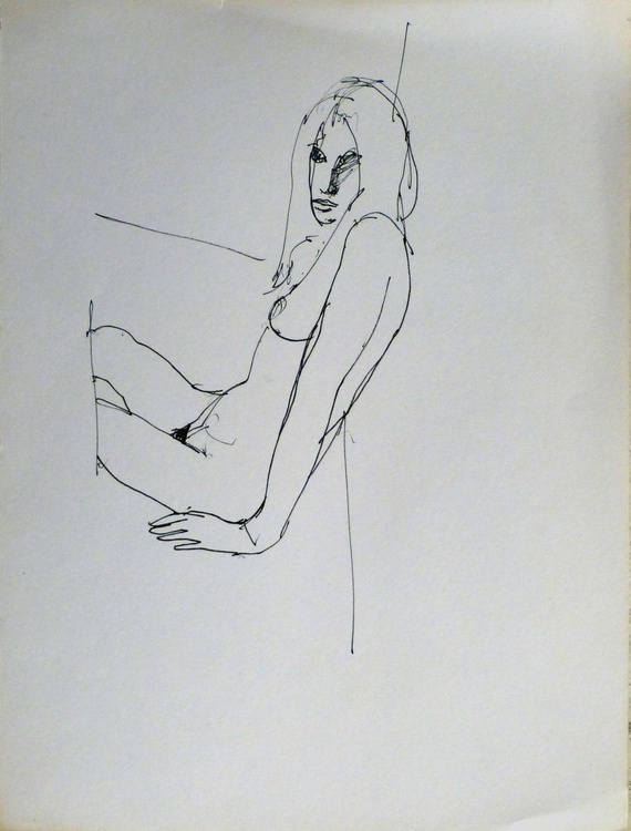 Seated Nude 3, 24x32 cm - Image 0