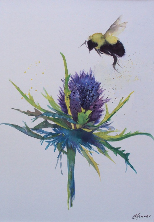 Bumble Bee & Thistle - Image 0