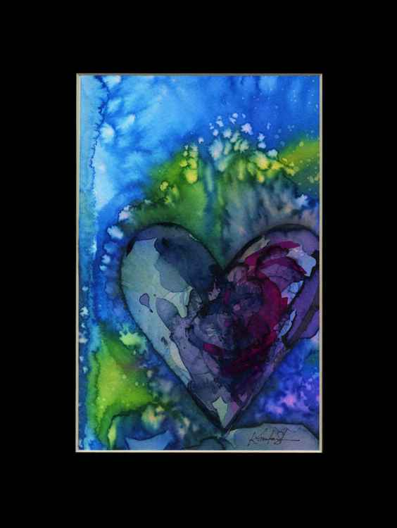 Heart Watercolor Painting, Abstract - Eternal heart No. 21 -