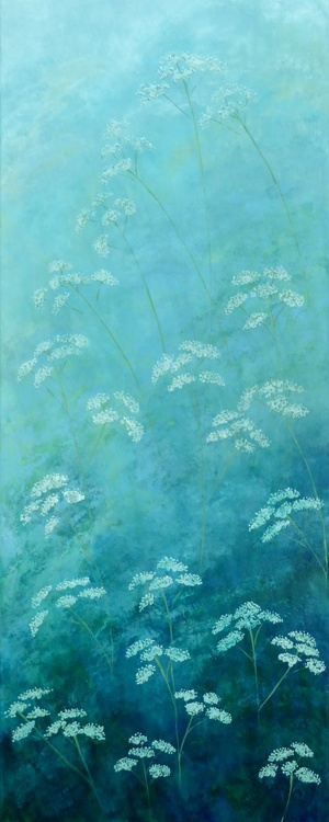 Cow Parsley / duck egg blues - Image 0