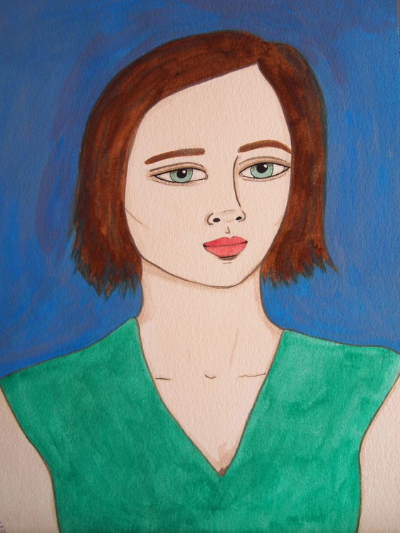 Girl in a Green Top - Image 0