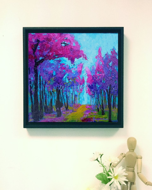 Within Lavender Dream | Enchanted Forest Collection Landscape Painting - Image 0