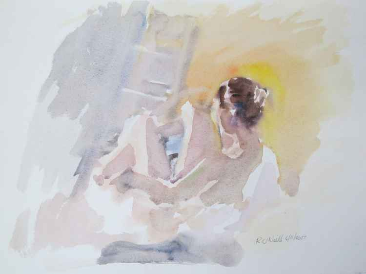 seated nude -