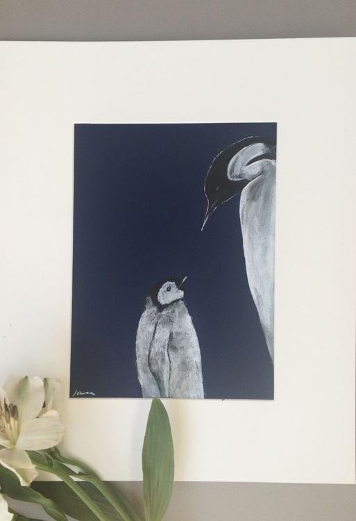Penguins, Original Pen & Ink - Image 0