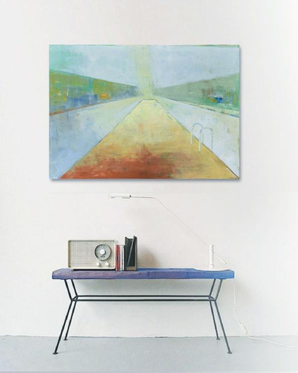 """Canvas art 39.37/27.5(100/70cm). """"Lake XIX"""" - Image 0"""
